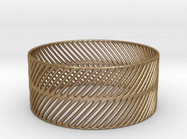 BRACELET_TIS_CYLINDER_05b in Polished Gold Steel