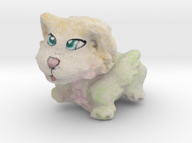 Wolfy-Wings Figurine in Full Color Sandstone