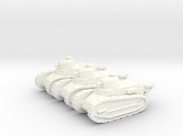 1/144 Renault FT tank (3 pieces)