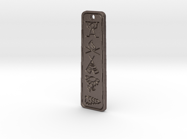 5th Year Pipestone Pendant  in Polished Bronzed Silver Steel