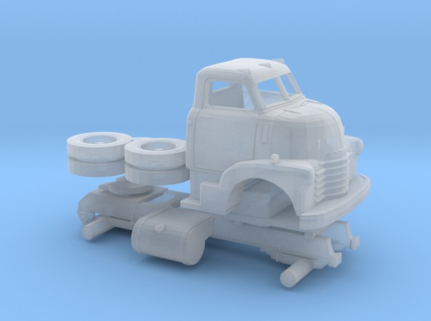 1/120 1949 Chevy COE Semi Truck Kit in Frosted Ultra Detail