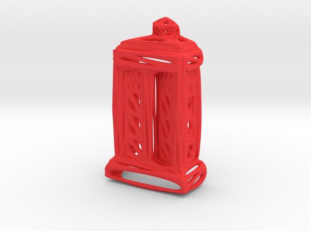 Voronoi Tardis (half) in Red Processed Versatile Plastic
