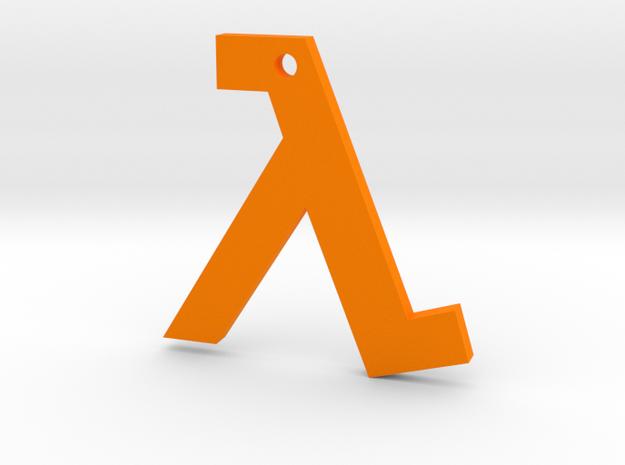 Half Life pendant in Orange Strong & Flexible Polished
