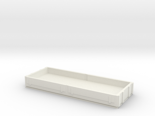 OO9 Low Side Wagon in White Natural Versatile Plastic
