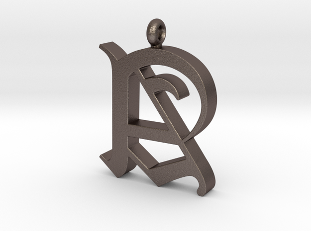 Pendant Old Letter A in Stainless Steel