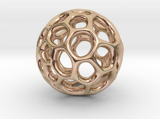 Gaia-40 (from $12) in 14k Rose Gold Plated Brass