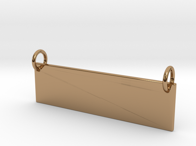 Banner Pendant in Polished Brass