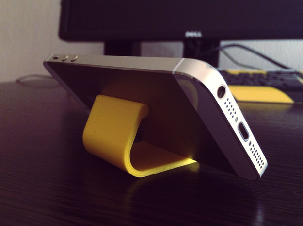 lightweight phone stand in Yellow Processed Versatile Plastic