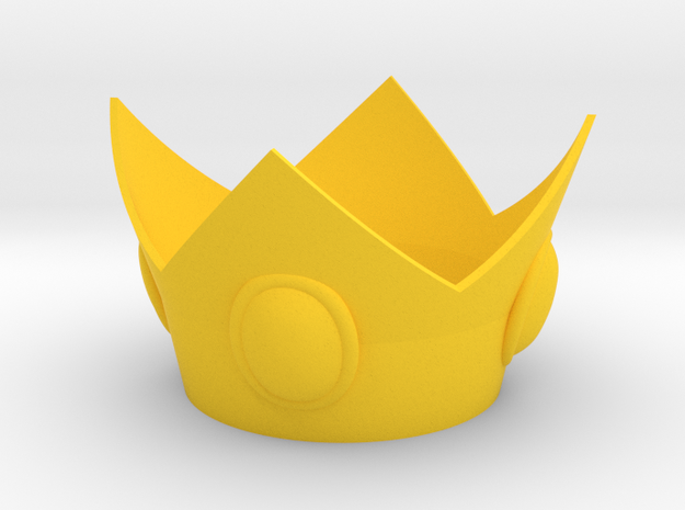 Princess Crown in Yellow Strong & Flexible Polished