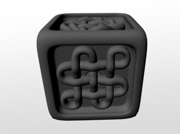 Celtic Die 3d printed ....Ok, I couldn't find a name for this one, but it's got six loops.
