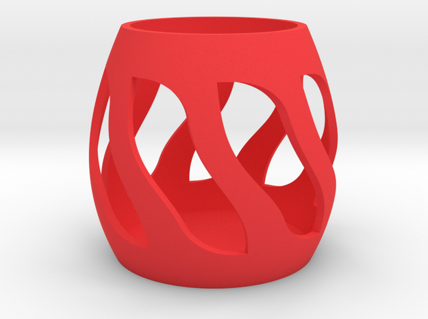 Pencil cup in Red Processed Versatile Plastic