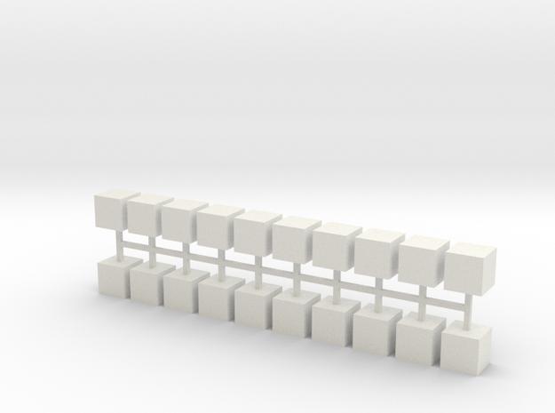 Parkhecke Buchsbaum Würfel 20er Set - 1:120 in White Natural Versatile Plastic