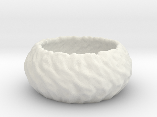 Thick Bowl in White Natural Versatile Plastic
