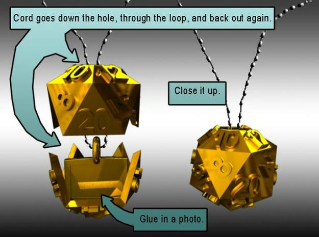 D20 Necklace 3d printed Instructions