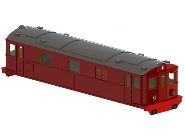 Swedish SJ electric locomotive type Pb - H0-scale in White Strong & Flexible