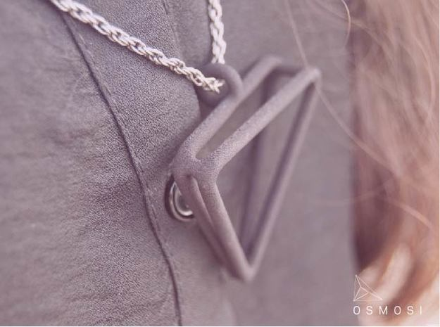 2Triangles Pendant - L 3d printed