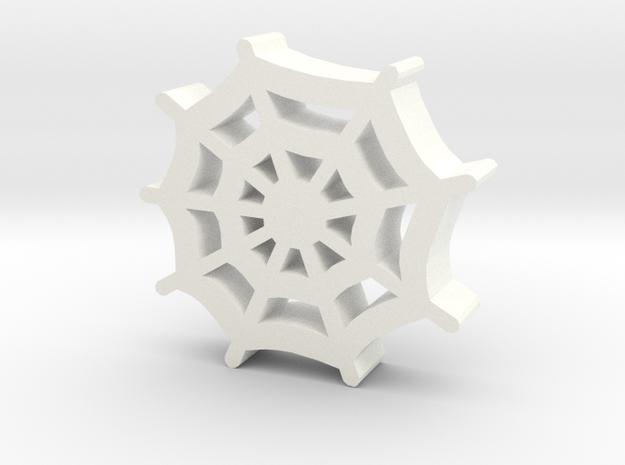 Game Piece, Spiderweb Meeple in White Processed Versatile Plastic