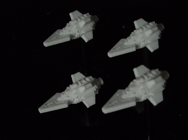 VA108A Ferocious Thrust Class Frigate (x4) in White Strong & Flexible