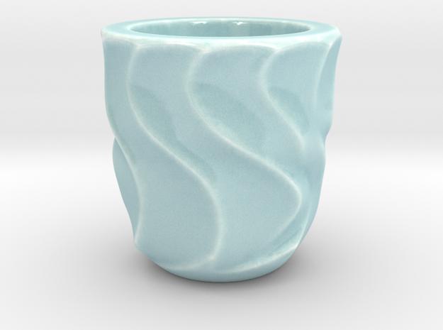 Shot Glass 1(Porcelian) in Gloss Celadon Green Porcelain