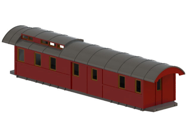 DFo7 - Swedish passenger wagon in White Natural Versatile Plastic