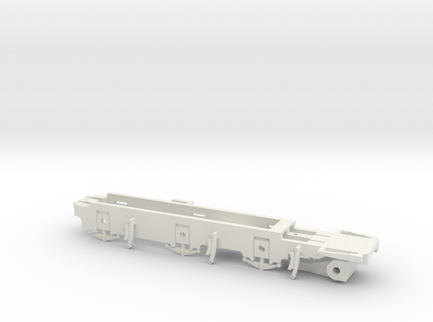 7mm - L&YR Class 28 Mogul Experiment - 0 Chassis in White Natural Versatile Plastic