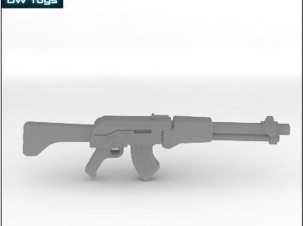 Assult rifle (28mm scale) 3d printed Description