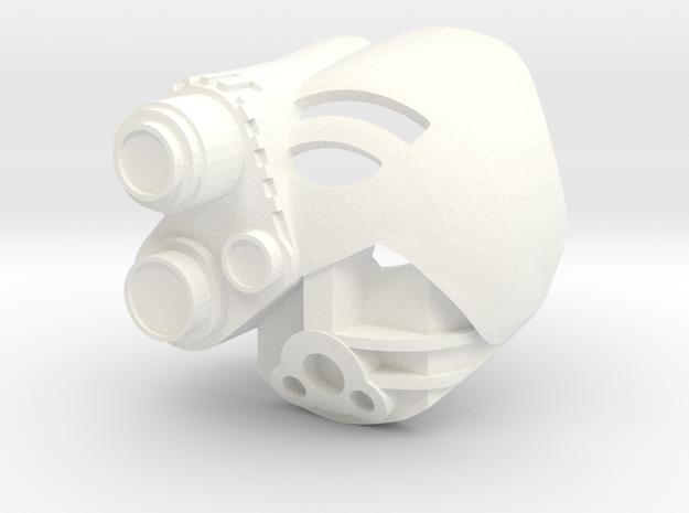 Kanohi Akaku in White Processed Versatile Plastic