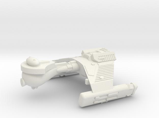 3788 Scale Klingon F5K Refitted Frigate WEM in White Strong & Flexible