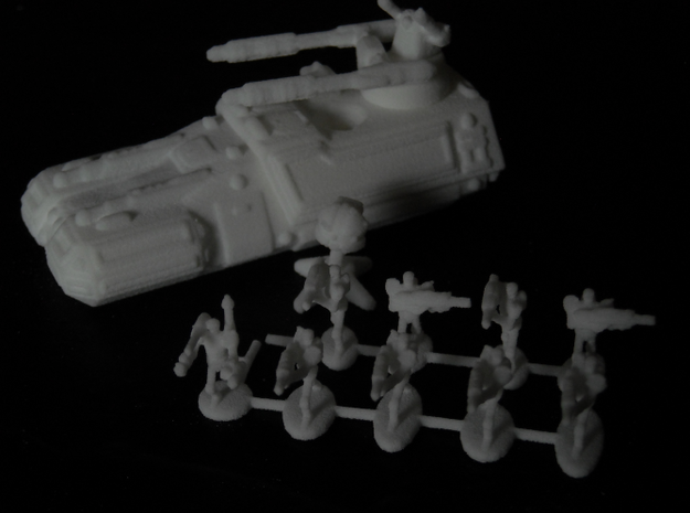 MG144-HE001 Herosine Droid Squad 3d printed Squad with Turma