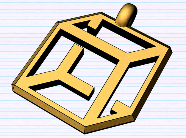 cube pendant possible edition 3d printed