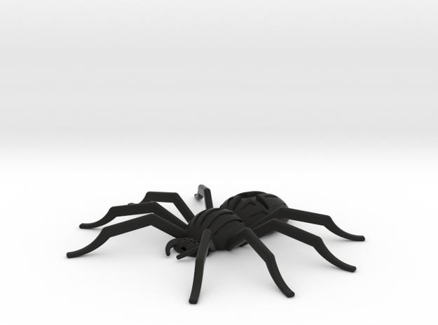 Orb-weaver spider, pendant in Black Natural Versatile Plastic