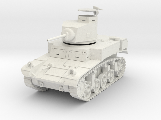 PV27E M3 Stuart Light Tank (1/30) in White Strong & Flexible