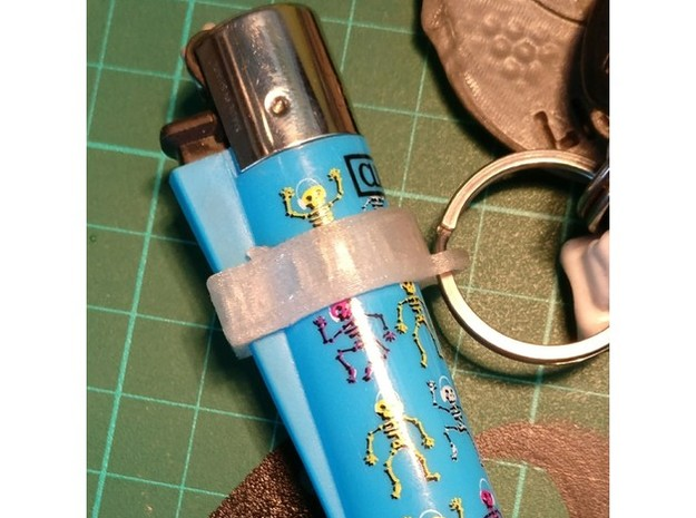 clipper keychain in White Natural Versatile Plastic