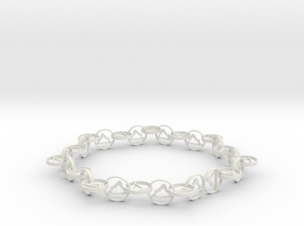 yoga jewelry necklace in White Natural Versatile Plastic