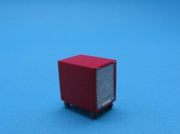 HO/1:87 Fire extinguisher container kit 3d printed Painted & assembled