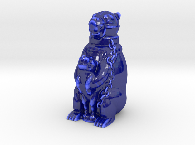 Big Bear  in Gloss Cobalt Blue Porcelain