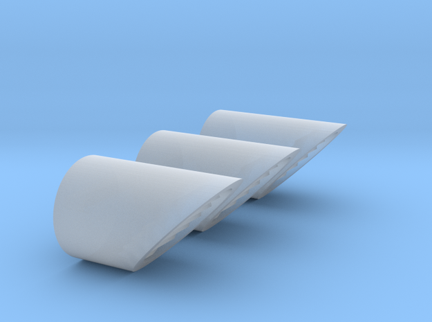 HO 3x Exhaust Ducts in Smooth Fine Detail Plastic