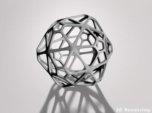 GridBall 3d printed a 3d rendering of a grid ball, grated ball