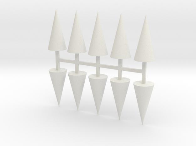 Parkhecke Buchsbaum Kegel 10er Set - 1:120 in White Natural Versatile Plastic