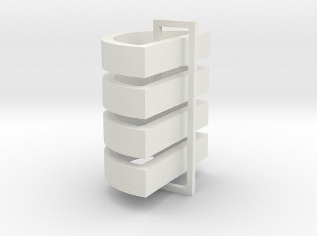 Parkhecke halbrund (Buchsbaum) 4er Set 1:120 in White Natural Versatile Plastic