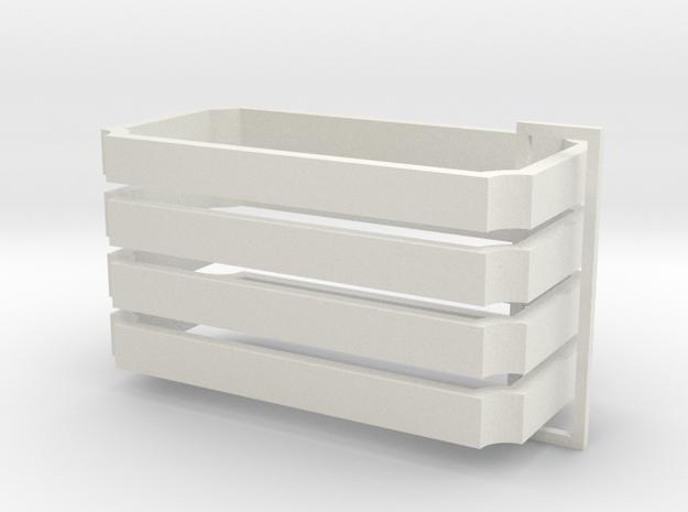 Parkhecke rechteckig Ecken eingerückt (Buchsbaum)  in White Natural Versatile Plastic