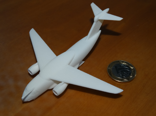 022E KC-390 1/350 WITH LANDING GEAR in White Natural Versatile Plastic