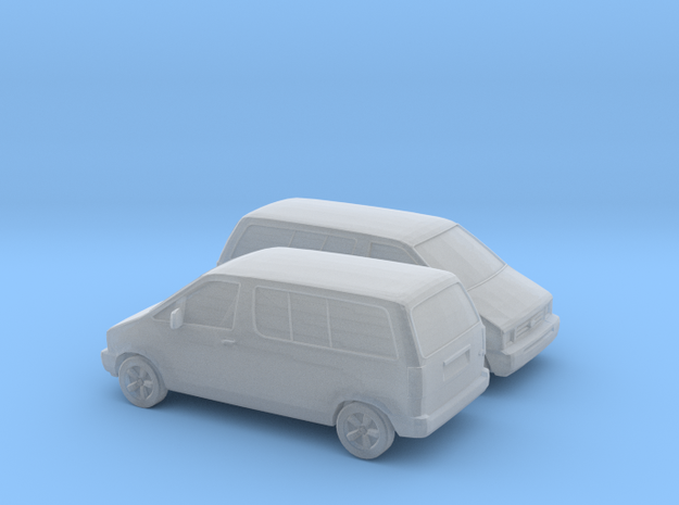 1/120 1990 Ford Aerostar in Smooth Fine Detail Plastic