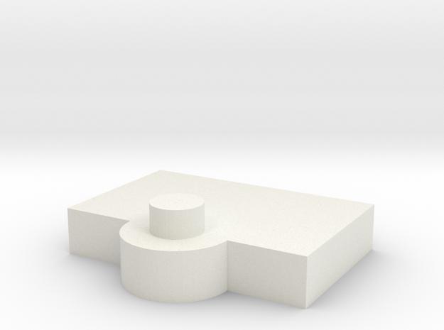 Bridge - Captain's Chair Platform 72 in White Natural Versatile Plastic