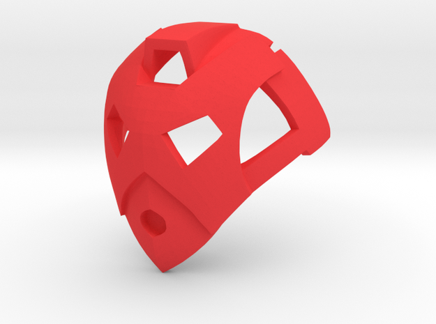 Inorganic Kanohi Calix in Red Processed Versatile Plastic