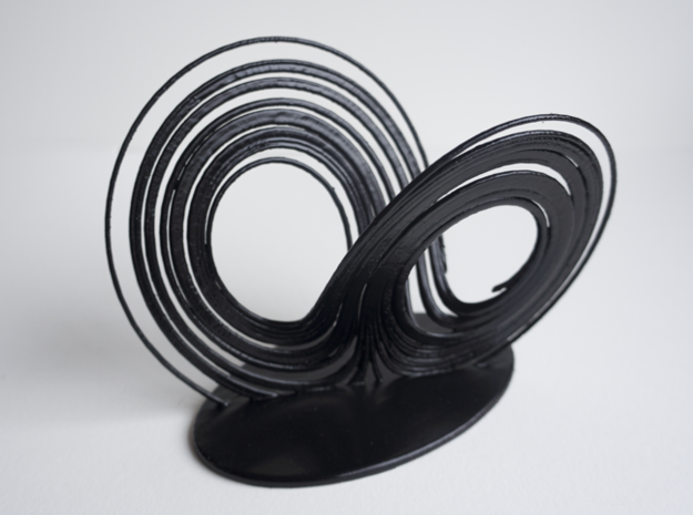 Lorenz Attractor 3d printed ABS + black spray paint