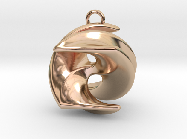 Excelate A1 in 14k Rose Gold Plated Brass: Small