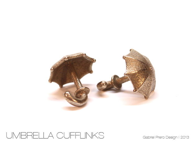 Umbrella Cufflinks in Stainless Steel