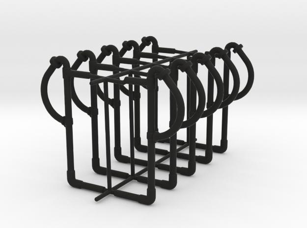 set of 10 standard vaccum pipes  in Black Natural Versatile Plastic