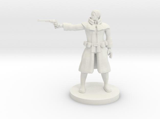 Human Gunslinger v2 in White Natural Versatile Plastic